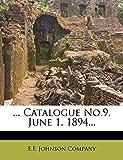 ... Catalogue No.9, June 1, 1894...