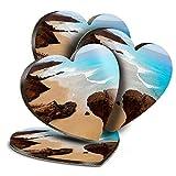 Destination Vinyl ltd Great Posavasos (Juego de 4) Corazón – Fuerteventura Canarias Bebe Playa Posavasos Brillantes/Protección de mesa para cualquier tipo de mesa #16537