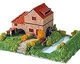 Keranova- Kit de cerámica Casa Rural con Molino, Color marrón (30314) , color/modelo surtido