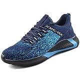 UCAYALI Zapatos de Seguridad Hombre Trabajo Calzado Comodo Azul/Negro Talla 45