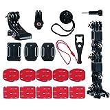 PROVO Frontal para Casco para Kit de Montaje Lateral, per Action Camera Compatibile con GoPro 8/7/6/5/4