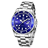 BENYAR Relojes Cuarzo de los Mejores Hombres - Reloj de Negocios Informal con Esfera de Acero Inoxidable Impermeable para Hombres