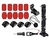 LICHIFIT Soporte de barbilla frontal adhesivo para casco frontal para cámaras de acción GoPro Hero 6 5 4 3 Xiaomi Yi SJCAM