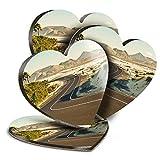 Destination Vinyl ltd Great Posavasos (Juego de 4) Corazón - Corralejo Fuerteventura Canarias Beber Posavasos Brillantes/Protección de mesa para cualquier tipo de mesa #16563