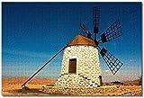 Nicoole España Fuerteventura Rompecabezas para adultos Niños 1000 piezas Juego de rompecabezas de madera para regalos Decoración del hogar Recuerdos especiales de viaje