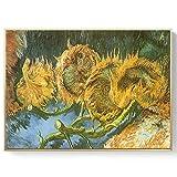 oioiu Van Gogh Pintura al óleo Noche Estrellada Girasol Lienzo Abstracto Arte impresión Cartel Imagen Pared decoración de la casa Pasillo Sala de Estar Dormitorio Pintura de Pared sin Marco